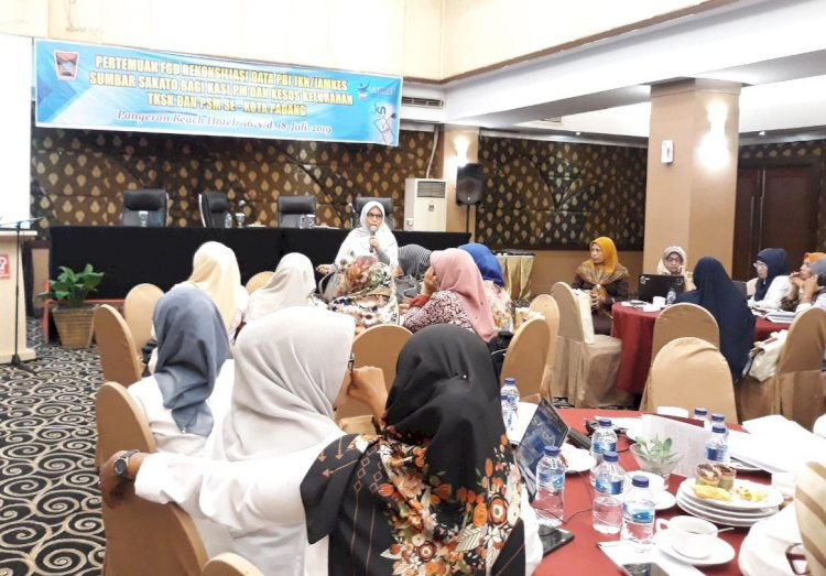 Dinas Kesehatan laksanakan Rekonsiliasi data Jamkes Sumbar Sakato dengan Kelurahan