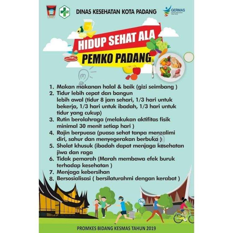 Tips Hidup Sehat Ala Pemko Padang