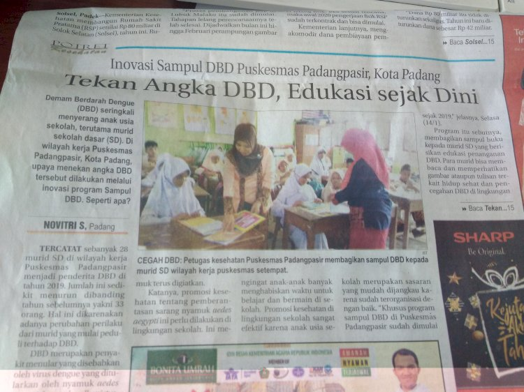 Inovasi sampul DBD Puskesmas Padang Pasir