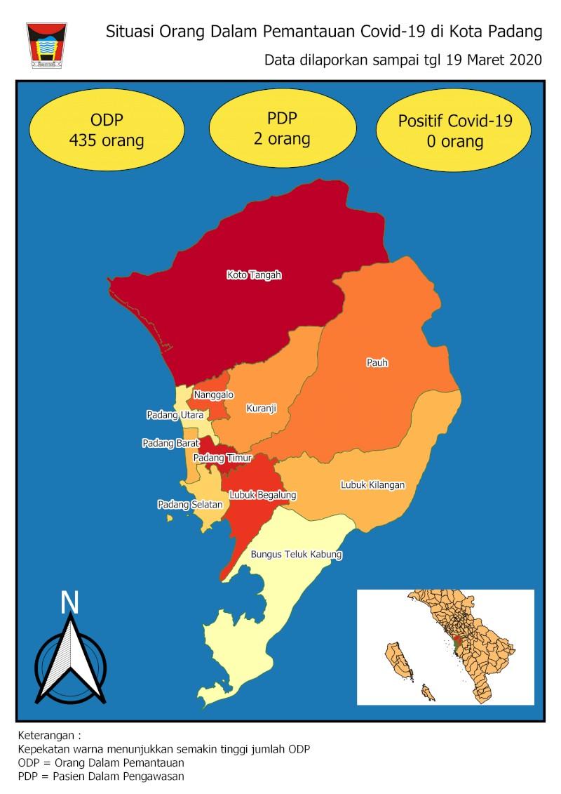 Situasi Terkini Pemantauan COVID19 di Kota Padang Tanggal  20 Maret 2020