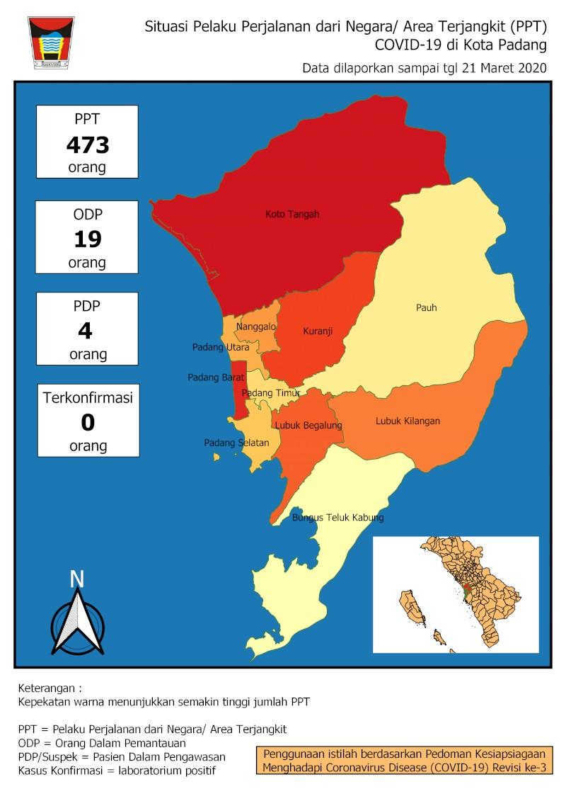 Situasi Terkini Perkembangan Pemantauan Coronavirus Disease (COVID-19) di Kota Padang_22 Maret 2020