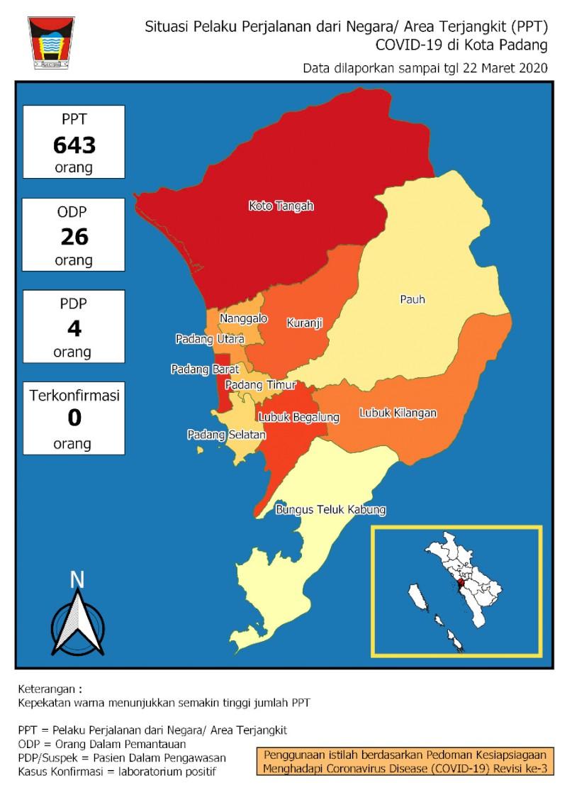 Situasi Terkini Perkembangan Pemantauan Coronavirus Disease (COVID-19) di Kota Padang_23 Maret 2020