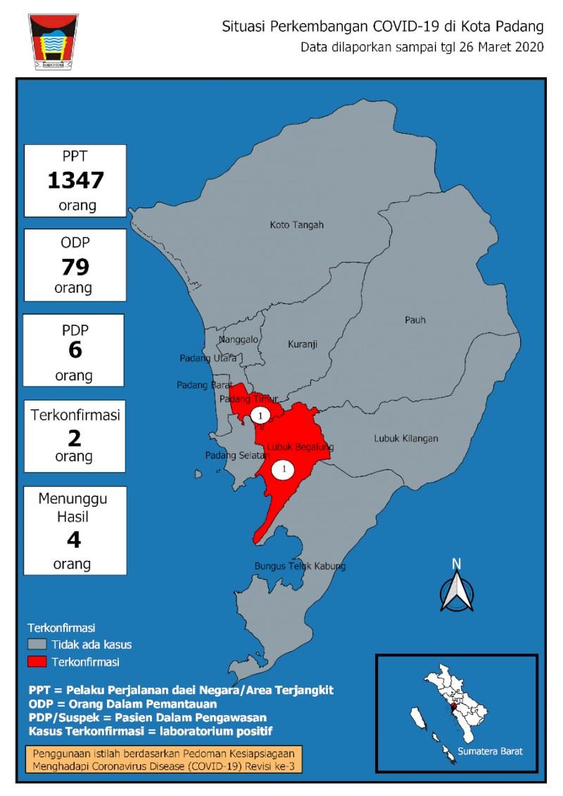 Situasi Terkini Perkembangan Pemantauan Coronavirus Disease (COVID-19) di Kota Padang_27 Maret 2020