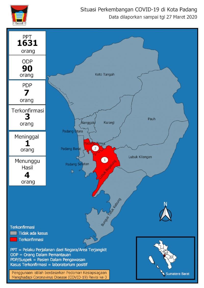 Situasi Terkini Perkembangan Pemantauan Coronavirus Disease (COVID-19) di Kota Padang_28 Maret 2020